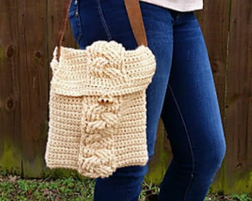 Capulin Cross Body Bag AllFreeCrochet.com