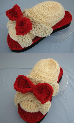 Red Bow Sandal Slippers