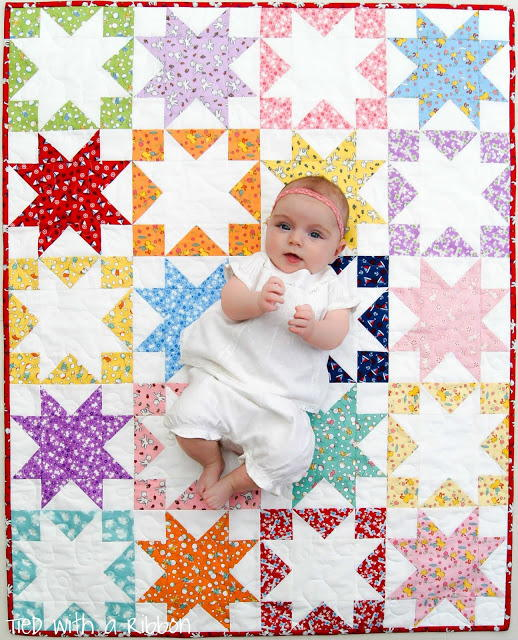 Shadow Stars Baby Quilt