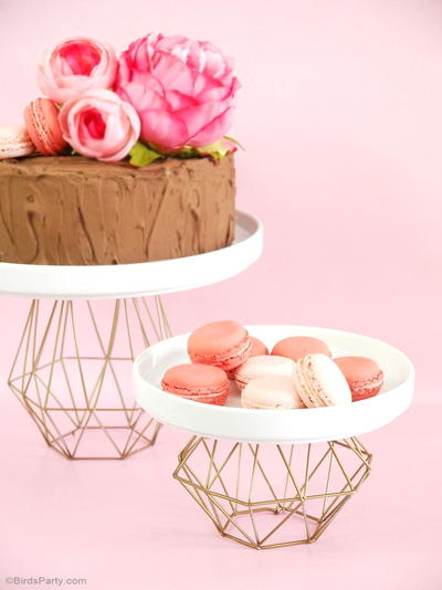 Metallic Gold Geometric Cake Stand