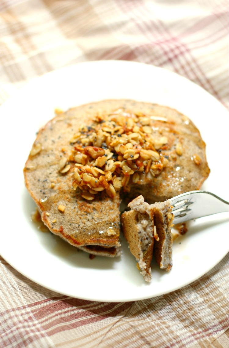Apple Poppy Seed Pancakes | FaveGlutenFreeRecipes.com