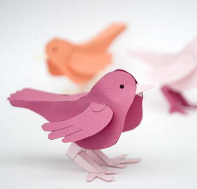 3d Paper Bird Free Printable Allfreepapercrafts Com