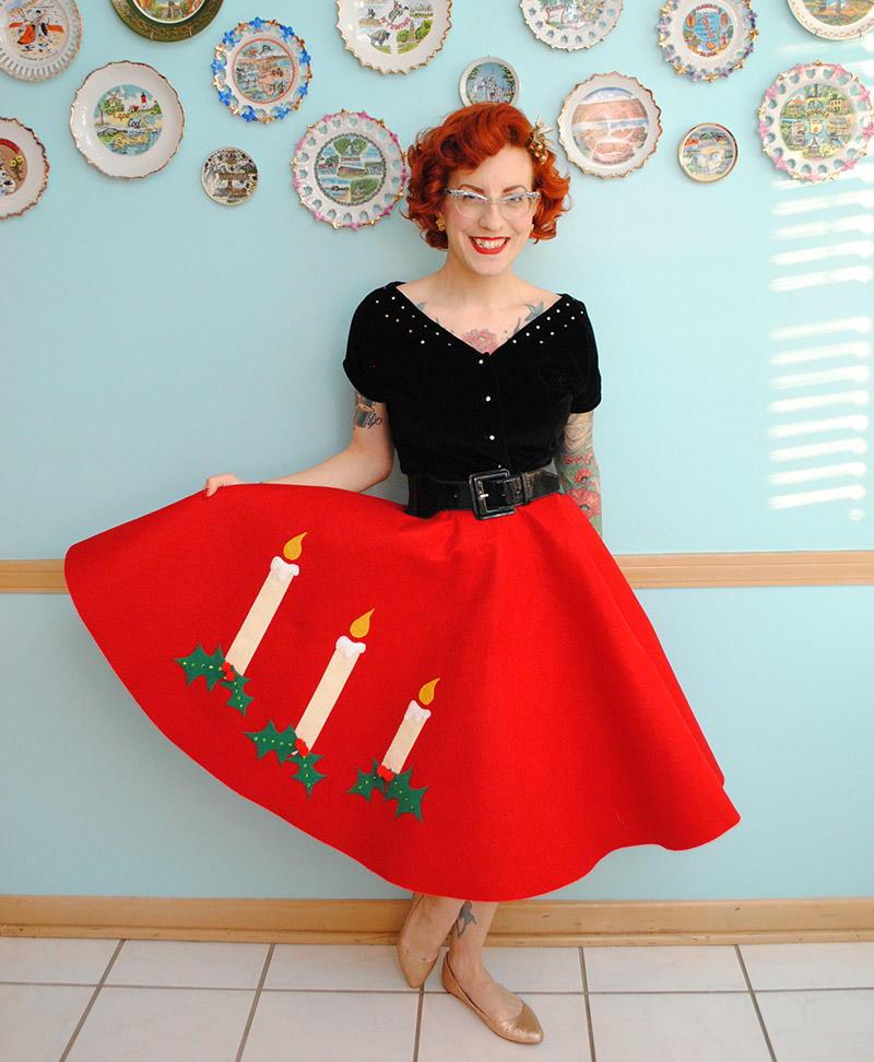 Very Retro Christmas Skirt Allfreesewing Com