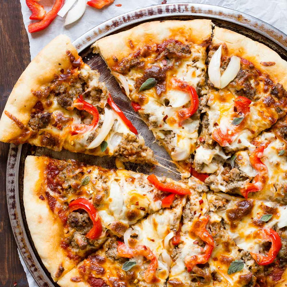 Spicy Sausage Pizza Favesouthernrecipes Com