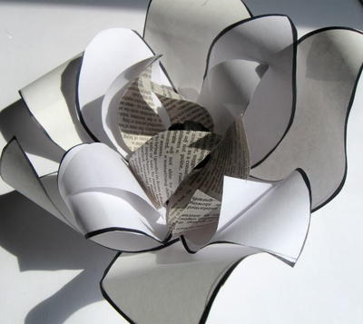 Ultra Artistic Found Paper Flower