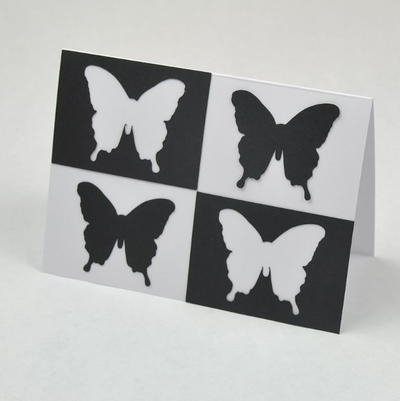 Black and White Butterfly Art DIY Greeting Card