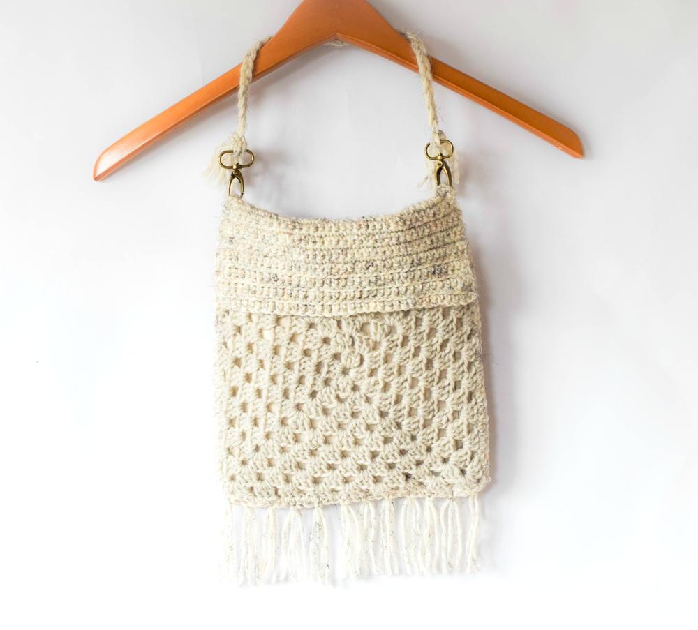Modern Crochet Boho Fringe Purse FaveCrafts