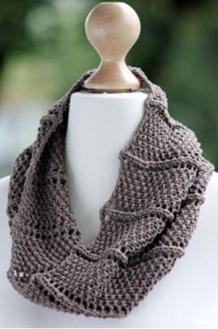 Cowl Vest Knitting Pattern Free : Ridge and Furrow Knit Cowl Pattern AllFreeKnitting.com
