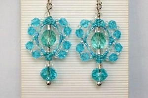 Crystal Macrame Earrings