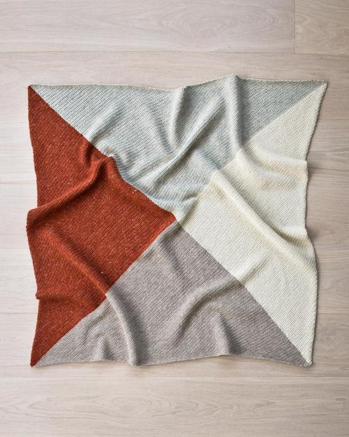Warm Earth Tones Easy Baby Blanket