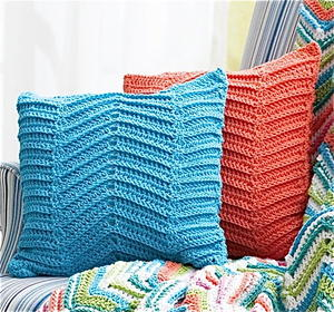 Crocheted Zigzag / Chevron Pillows