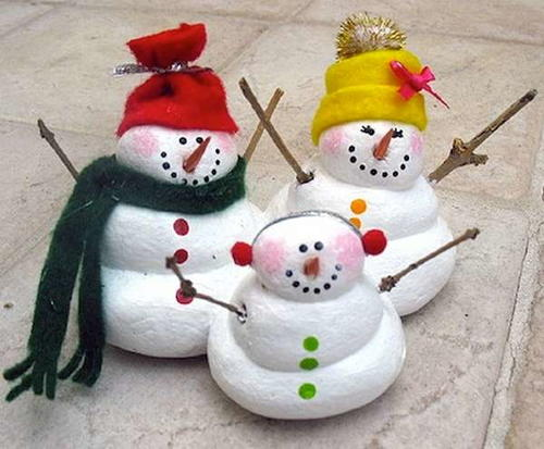 Salt Dough Snowmen Christmas Craft For Kids