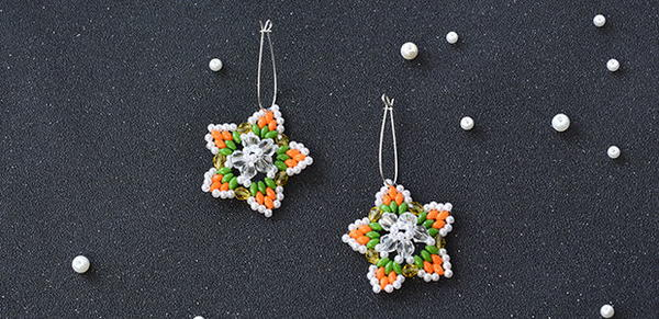 Shining Star Seed Bead Earrings