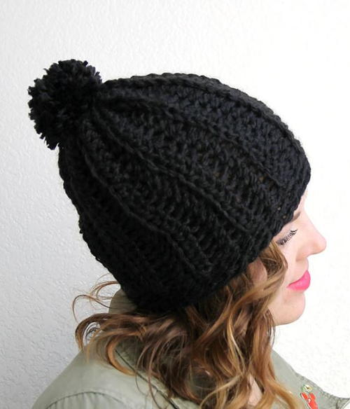 67b8bdee175 Cozy Ribbed Slouchy Hat