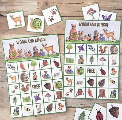 Woodland Creatures Printable Bingo Cards