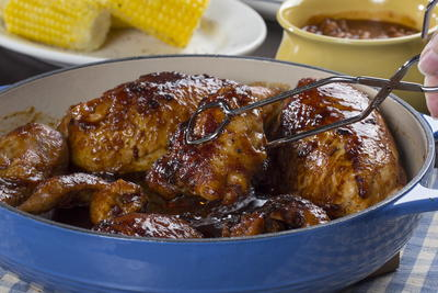 Skillet Barbecued Chicken