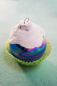 Snowy Cupcake Christmas Ornament