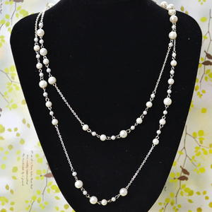 Pearls and Chains Layered Necklace