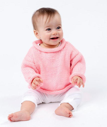 Pretty in Pink Baby Pullover