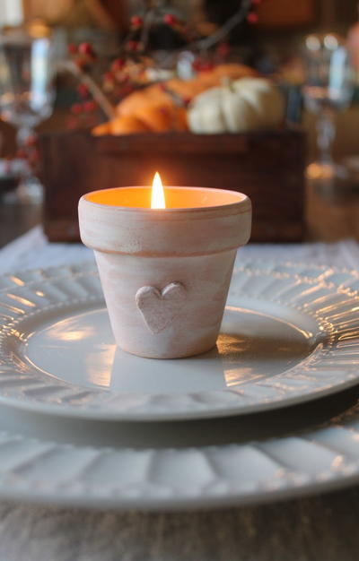 Amish Thanksgiving DIY Candle Holders