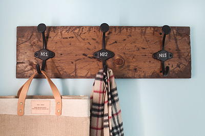 Dark Walnut DIY Coat Rack