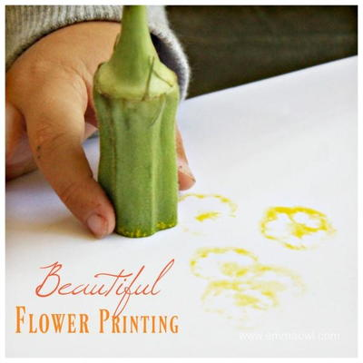 Okra Printed Flowers