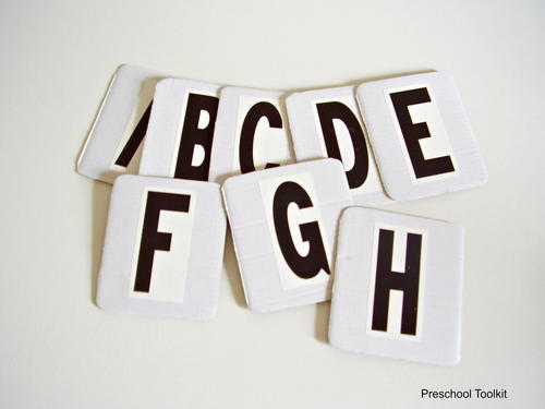 How to Make Letters of the Alphabet Cards for Preschoolers