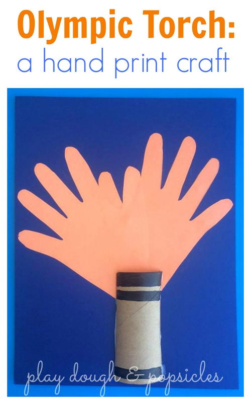 Olympic Torch: A Hand Print Craft