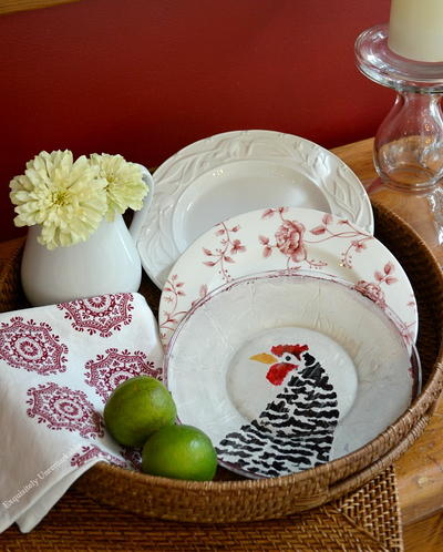 Rustic Fall Stenciled Glass Plates