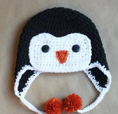 Super Sweet Crocheted Penguin Hat
