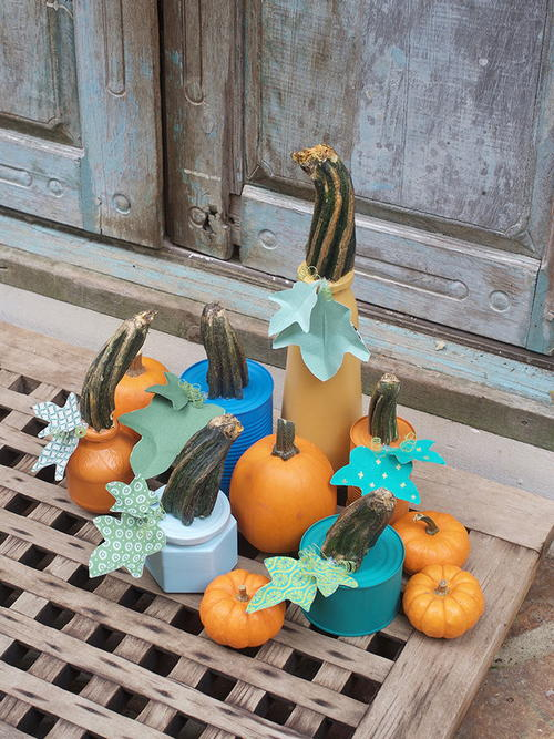 Upcycled Fall Painted Pumpkins