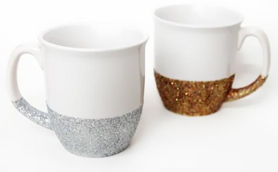 Glitter Dipped Diy Mugs Diyideacenter Com