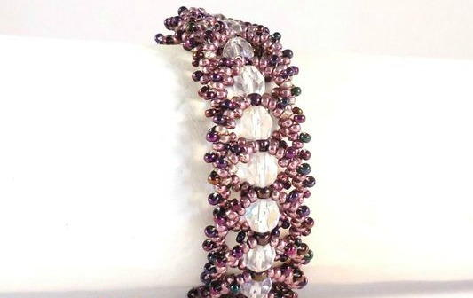 Twisted Flat Spiral Beaded Bracelet