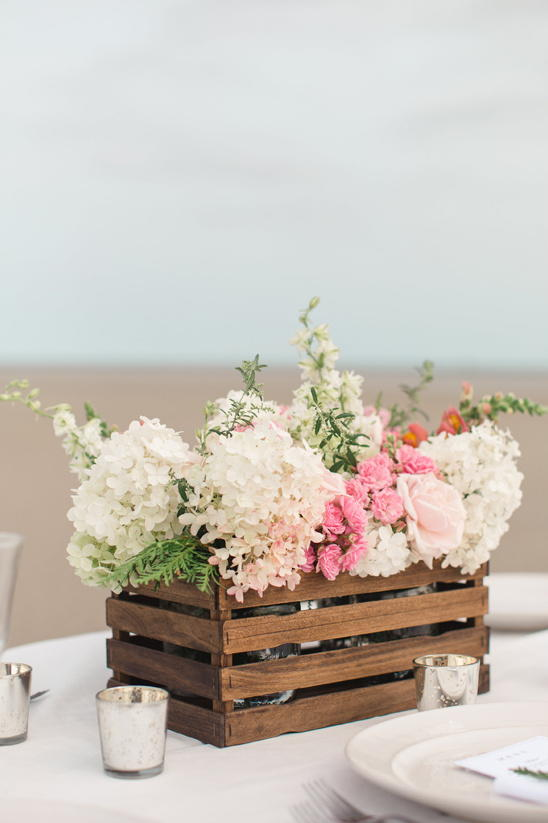 Flower crate centerpiece allfreediyweddings