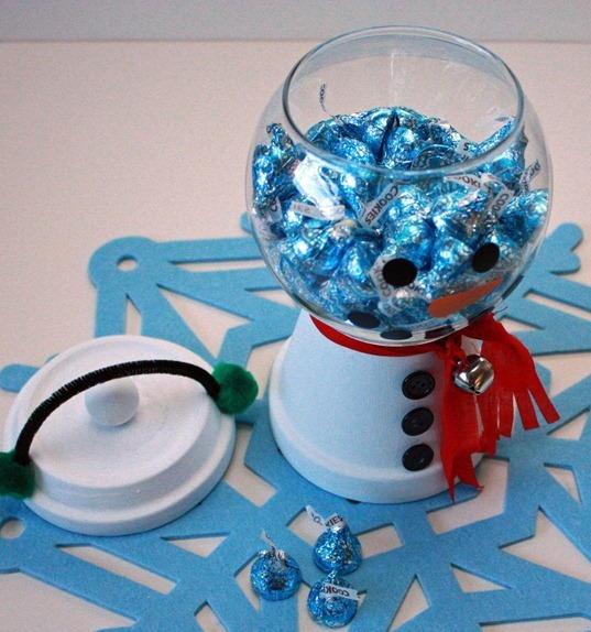 Christmas Snowman Candy Bowl Favecrafts Com