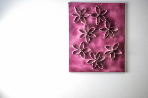 Toilet Paper Roll DIY Canvas Art