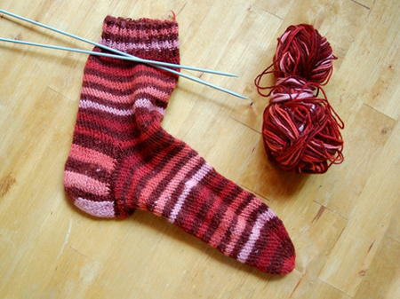 Candy Stripe Knit Sock Pattern