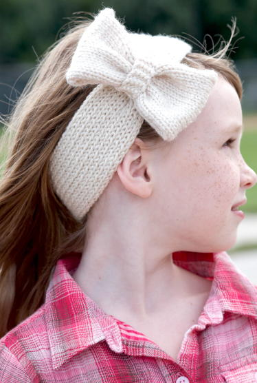 Bow Tie Knitted Headband