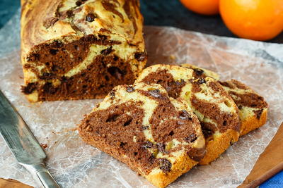Simple Marbled Chocolate Orange Bread