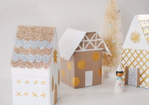 Duct Tape DIY Christmas Village
