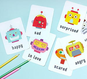 photograph regarding Robot Printable named Psychological Robotic Absolutely free Printable Flashcards