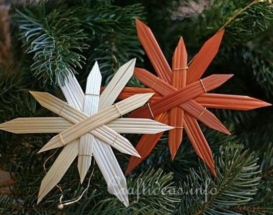 Natural Straw Star DIY Ornaments AllFreeChristmasCrafts