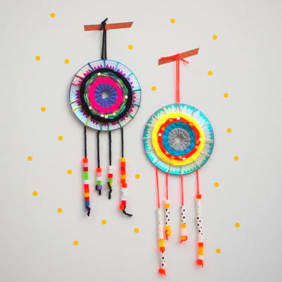 Woven CD DIY Dreamcatcher