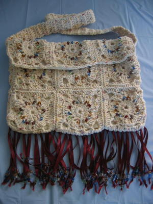 Granny Square Hippy Purse