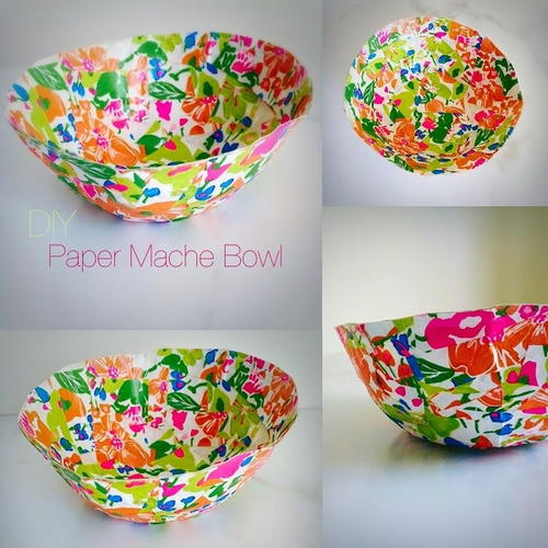 Paper mache bowl for Simple paper mache projects