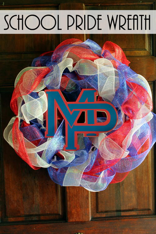 School Pride Wreath