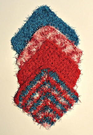Angled Scrubby Washcloth