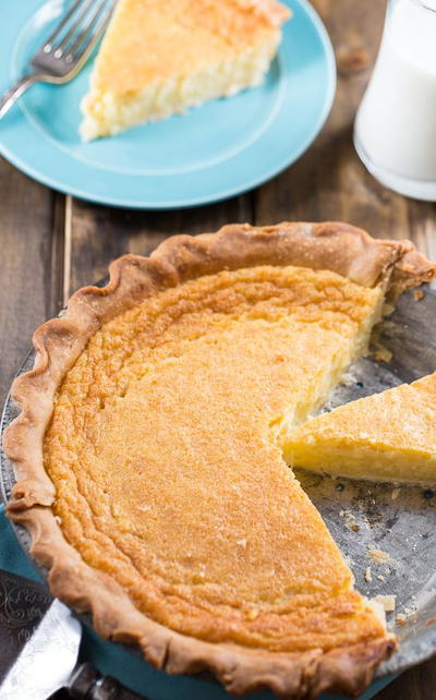 Amish Egg Custard Pie