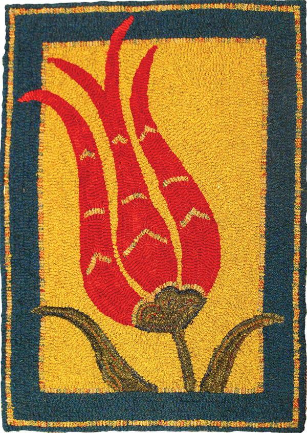 Ottoman Tulip   rughookingmagazine.com
