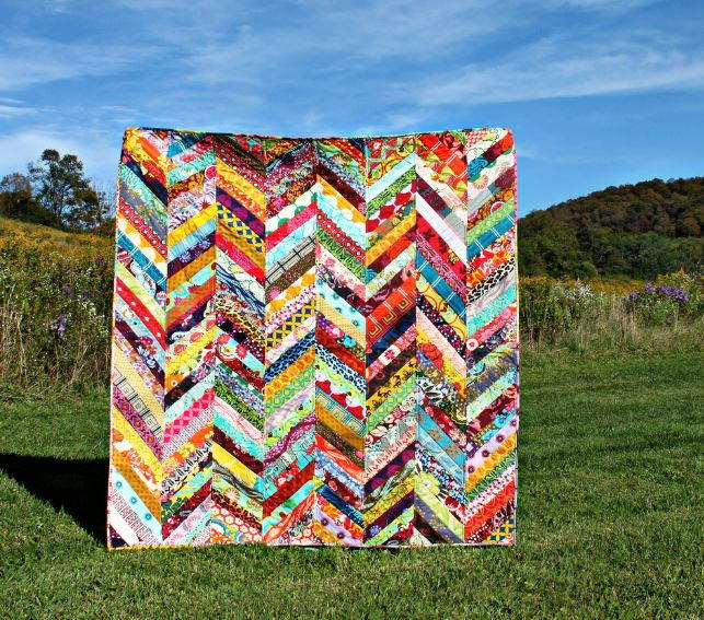 Scrappy Herringbone Quilt Tutorial Favequilts Com
